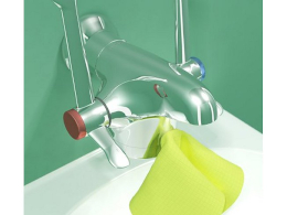 Optitherm thermostatic tap designed to encourage better hand-decontamination